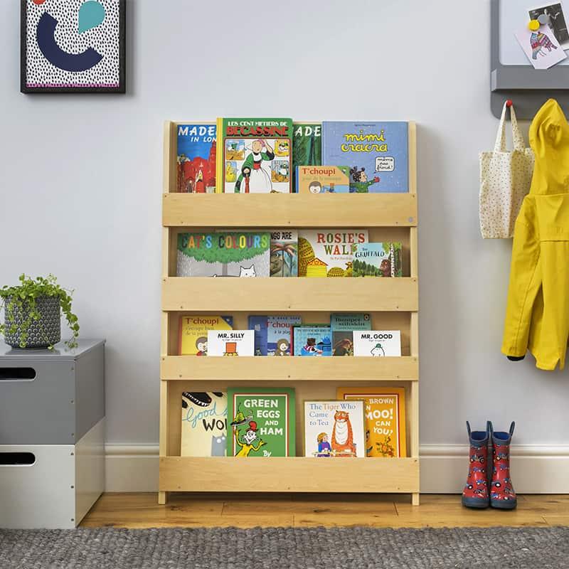 Children's bookcases, Tidy Books, Tidy Books Children Bookcases, kids bookcases, The Tidy Books Kids Wall Bookshelf Natural