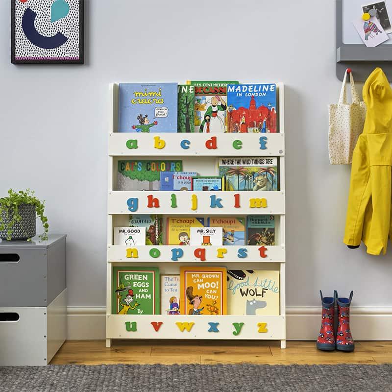 Tidy Books Bookshelf with Alphabet