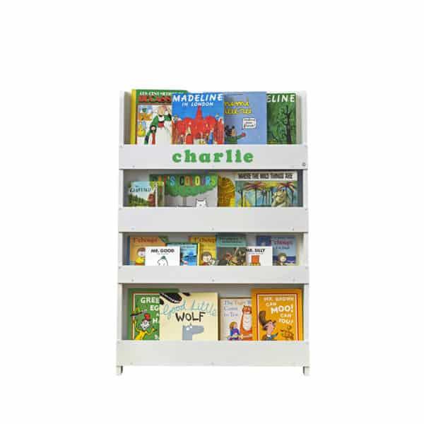 Children's bookcases, Tidy Books, Tidy Books Children Bookcases, kids bookcases, Personalised Children's Bookcase Light Grey