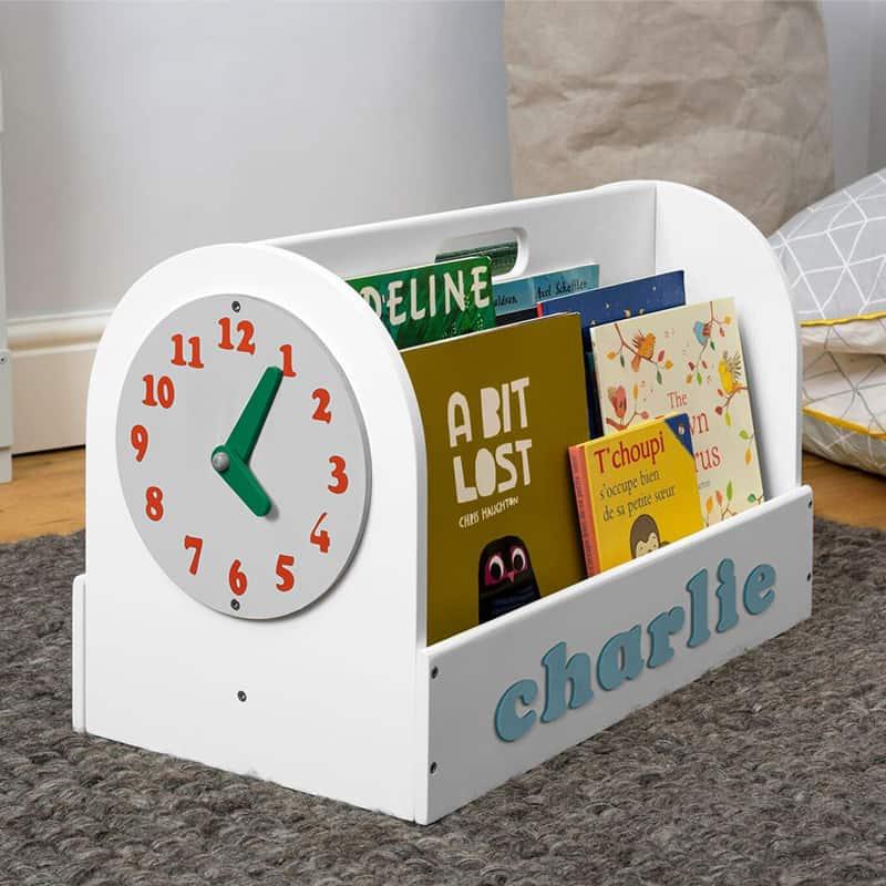 Tidy Books Children's Book Storage Box, Children's Book Storage Box, Tidy Books Book Box, Book Box, Tidy Books Box, Tidy Books Personalised Wooden Box White, Personalised Wooden Book Box