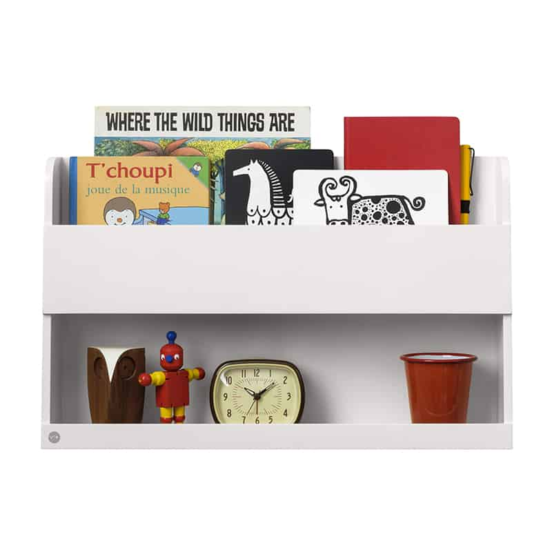 Tidy Books Bunk Bed Buddy, The Tidy Books Bunk Bed Buddy Wall Shelf, Bunk Bed Buddy, Floating Shelves for Bunk Beds, Tidy Books Bunk Bed Buddy White