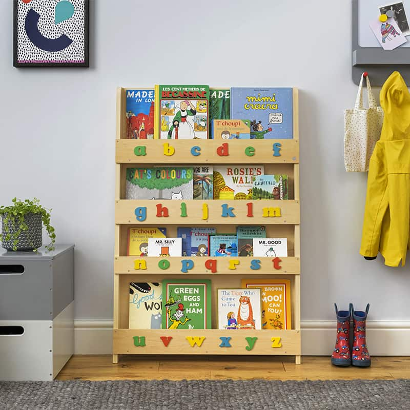 Children's bookcases, Tidy Books, Tidy Books Children Bookcases, kids bookcases, Tidy Books Alphabet Bookcase Natural Colour Alphabet