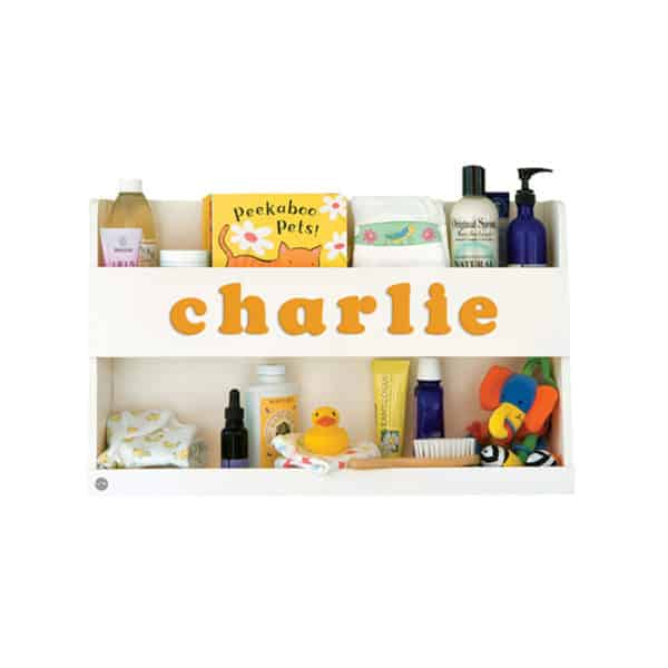 The Personalized Baby Bookshelf Ivory