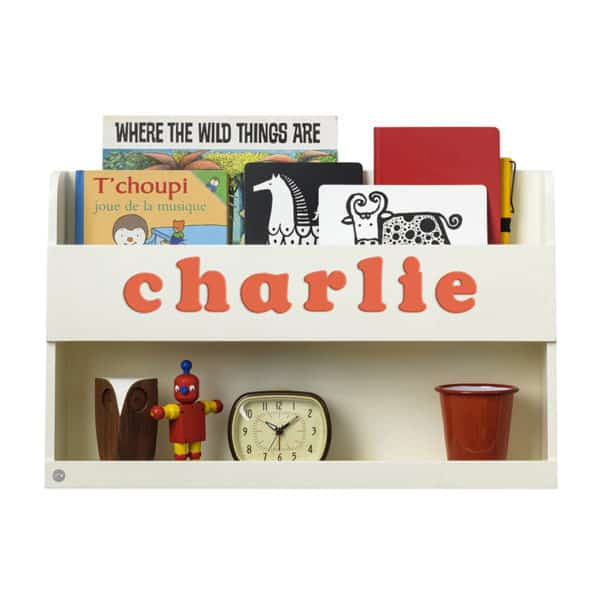 Tidy Books Bunk Bed Buddy, The Tidy Books Bunk Bed Buddy Wall Shelf, Bunk Bed Buddy, Floating Shelves for Bunk Beds, Tidy Books Personalised Bookshelf Ivory, Personalised Bunk Bed Shelf